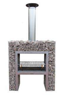 Block fireplace with BBQ