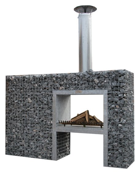 double sided fireplace 2,00m x 1,30m x 0,48m