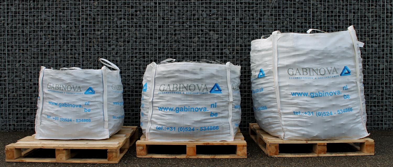 Bigbags gabion wall stones 600kg 1000kg 1700kg