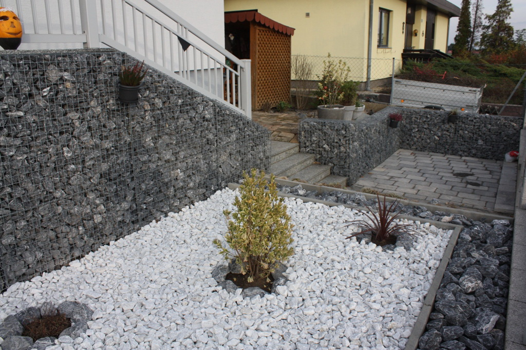 Gabions filled with Alps Stones