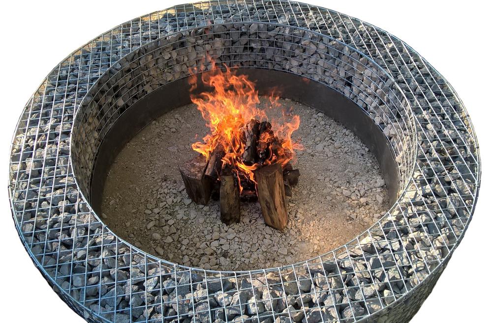 Gabion garden fireplace bbq XS
