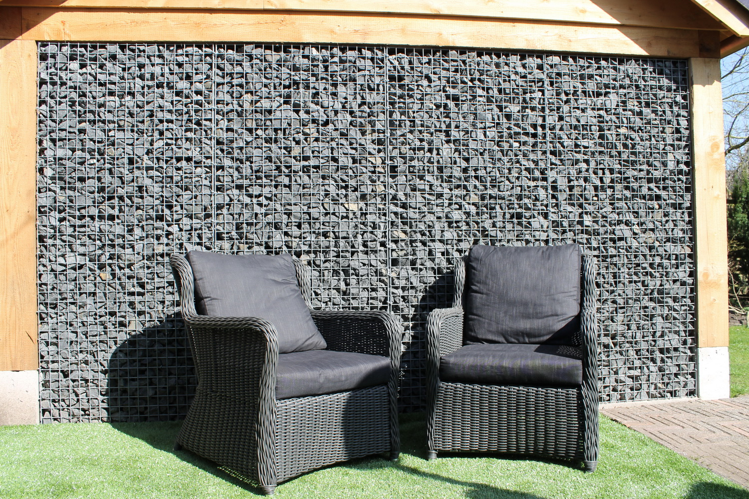 Gabion with Basalt 56-75mm