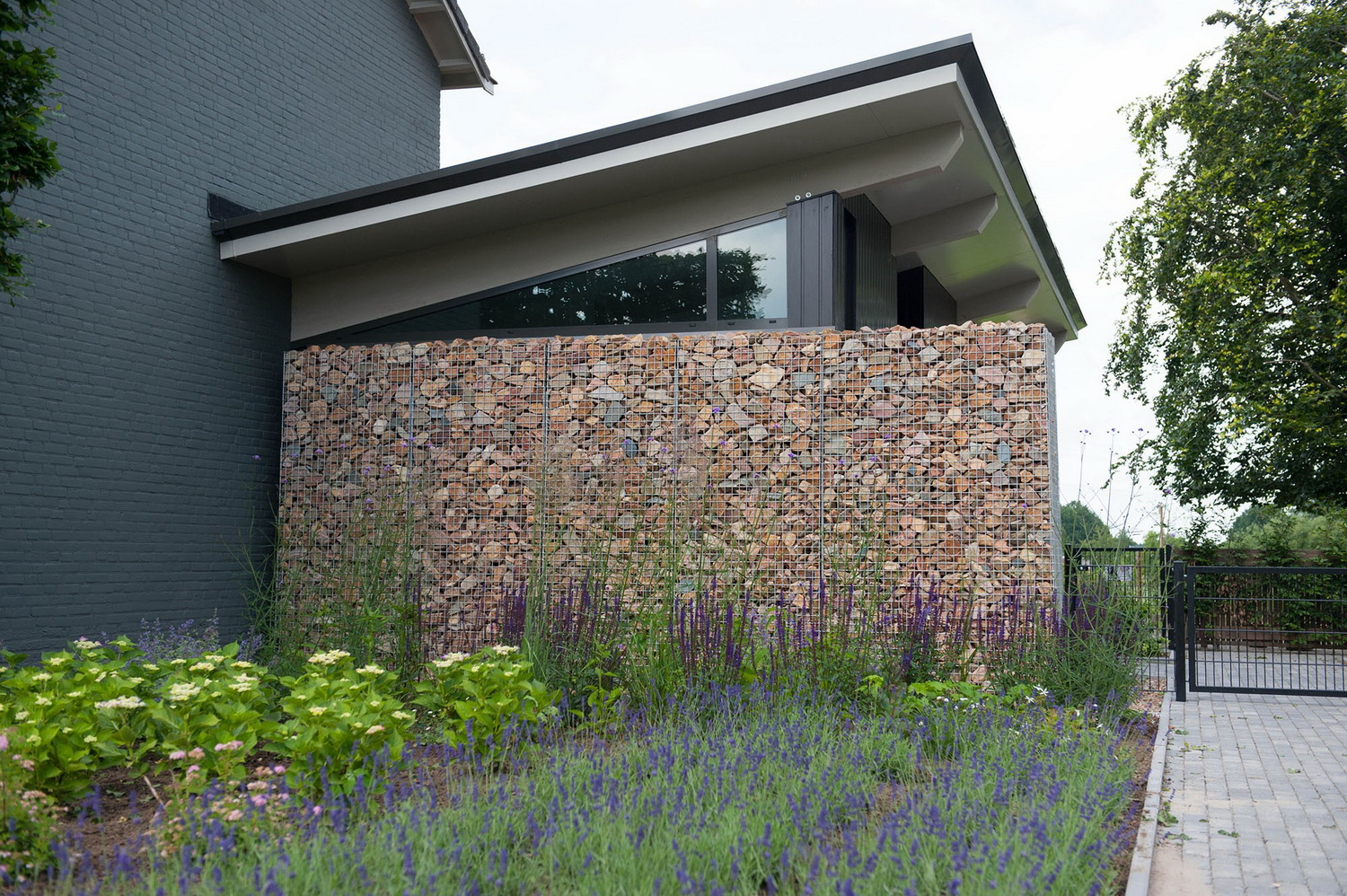 Gabions filled with Greywacke Stone 80-120mm